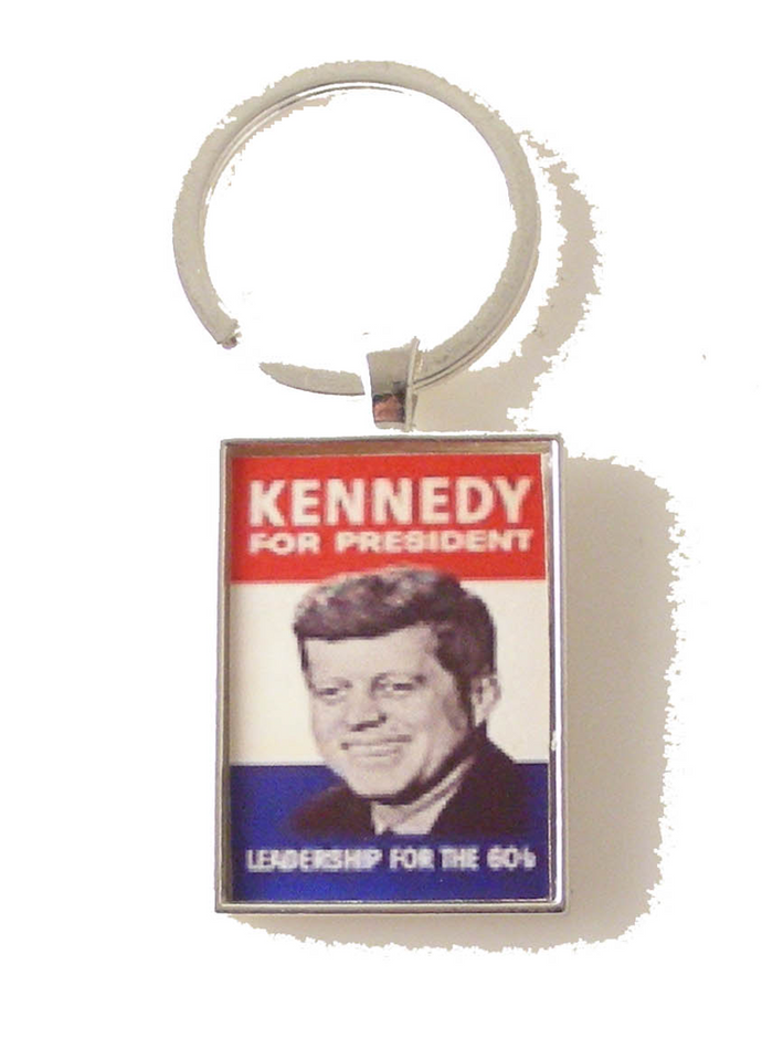 JFK CAMPAIGN POSTER KEY RING