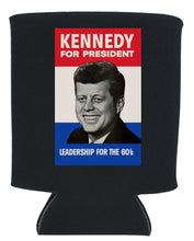 Load image into Gallery viewer, VINTAGE JFK CAMPAIGN POSTER KOOZIE NEW ORLEANS CUFFLINKS
