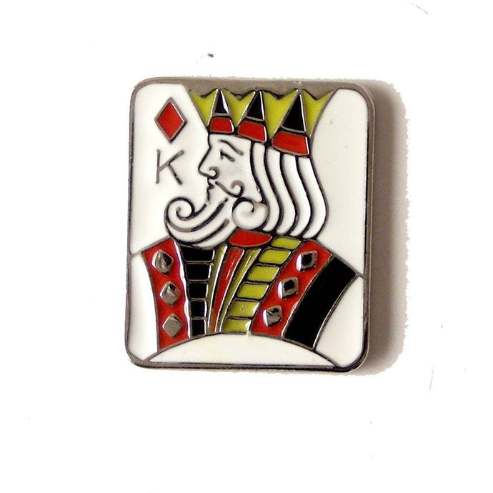 KING OF DIAMONDS  LAPEL PIN New Orleans Cufflinks