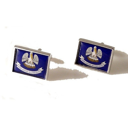 LOUISIANA FLAG CUFFLINKS New Orleans Cufflinks