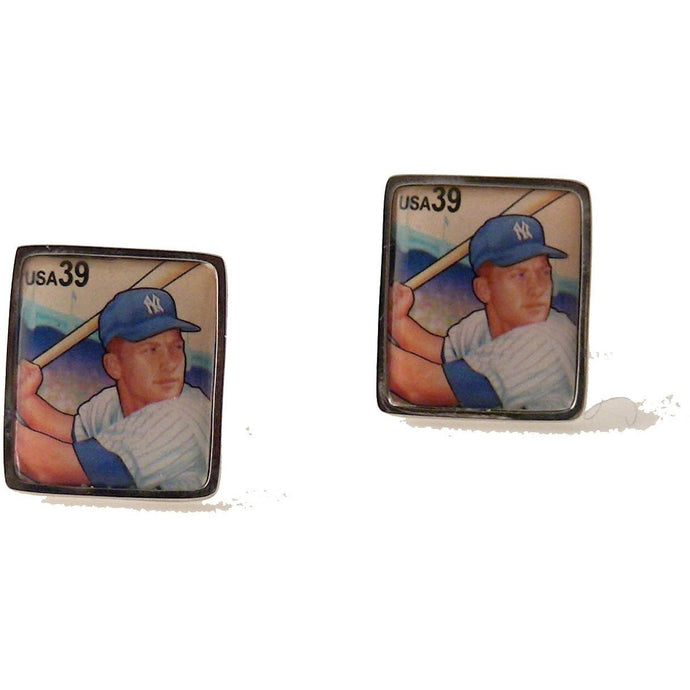 2006 MICKEY MANTLE POSTAGE STAMP CUFFLINKS New Orleans Cufflinks