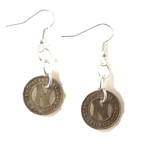 NEW ORLEANS STREETCAR TOKEN EARRINGS NEW ORLEANS CUFFLINKS