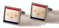 NEW ORLEANS FLAG CUFFLINKS NEW ORLEANS CUFFLINKS
