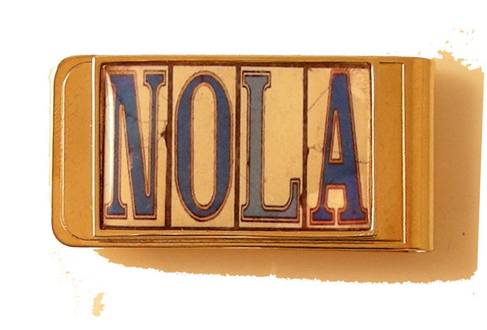 nola street tile money clip new orleans cufflinks