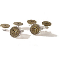 NEW YORK SUBWAY  TOKEN STUD SET New Orleans Cufflinks