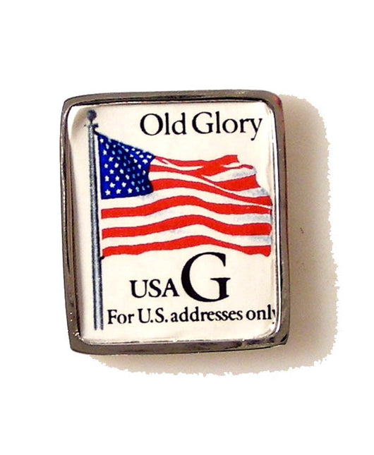 old glory postage stamp lapel pin new orleans cufflinks