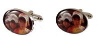 OVAL CUSTOM PHOTO CUFFLINKS