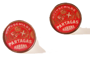 partagas cuban cigar band cufflinks new orleans cufflinks