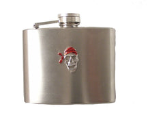 Load image into Gallery viewer, 4 OZ STAINLESS STEEL PIRATE FLASK