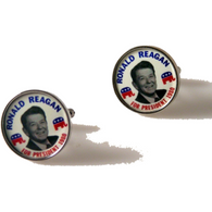 RONALD REAGAN CAMPAIGN BUTTON CUFFLINKS New Orleans Cufflinks