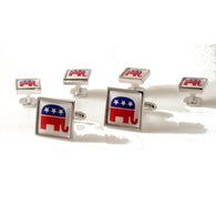REPUBLICAN PARTY CUFFLINK AND  TUXEDO STUD SET