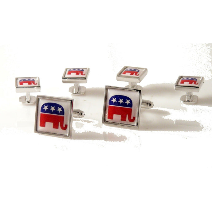 REPUBLICAN PARTY STUD SET