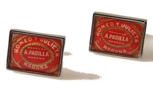 romero y julieta cuban cigar band cufflinks new orleans cufflinks