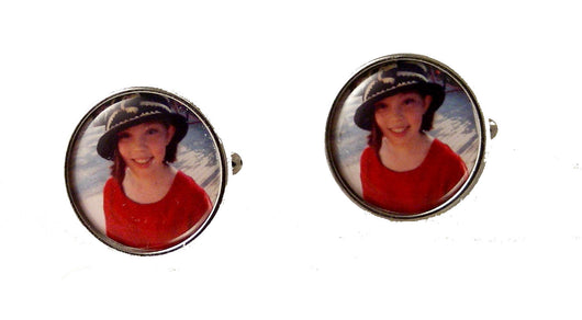 ROUND CUSTOM PHOTO CUFFLINKS NEW ORLEANS CUFFLINKS
