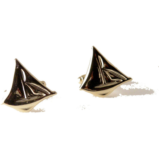 GOLD SAILBOAT CUFFLINKS New Orleans Cufflinks