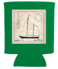 Load image into Gallery viewer, SAILBOAT BLUEPRINT KOOZIE