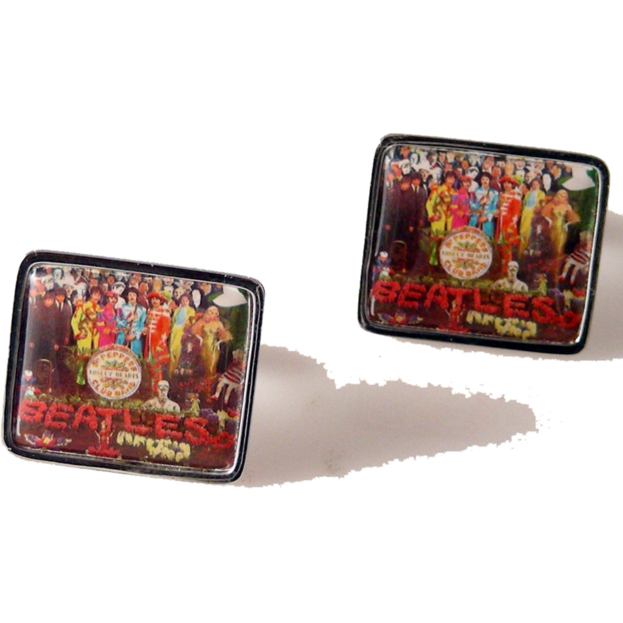 2007 THE BEATLES  SGT PEPPERS  POSTAGE  STAMP CUFFLINKS New Orleans Cufflinks