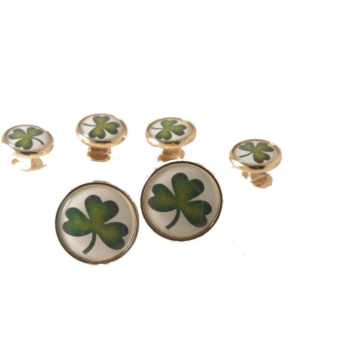SHAMROCK STUD SET New Orleans Cuffllnks