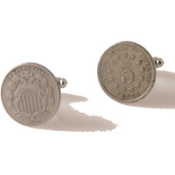 AUTHENTIC SHIELD NICKEL CUFFLINKS New Orleans Cufflinks