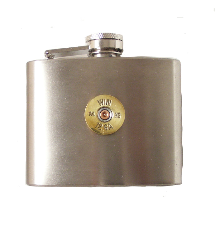 4 OZ STAINLESS STEEL SHOTGUN SHELL FLASK