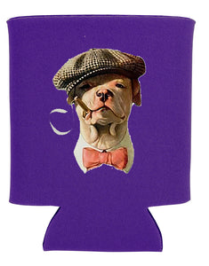 smoking bulldog koozie new orleans cufflinks