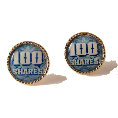 AUTHENTIC VINTAGE STOCK CERTIFICATE CUFFLINKS New Orleans Cufflinks