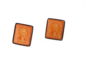 1927 thomas jefferson postage stamp cufflinks new orleans cufflinks