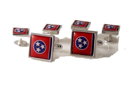 Tennessee flag stud set new orleans cufflinks