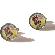 TEDDY ROOSEVELT CAMPAIGN BUTTON CUFFLINKS