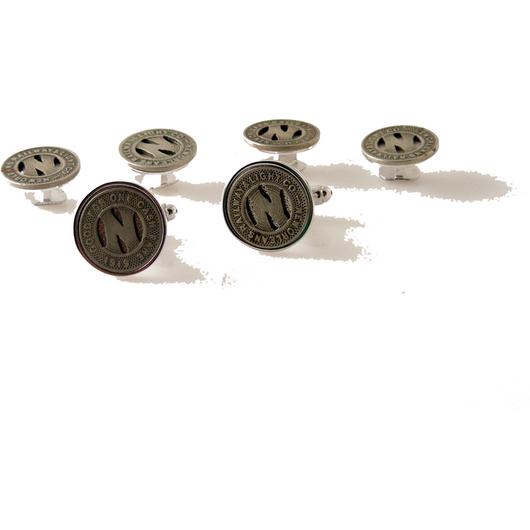 NEW ORLEANS STREETCAR TOKEN  STUD SET New Orleans Cufflinks