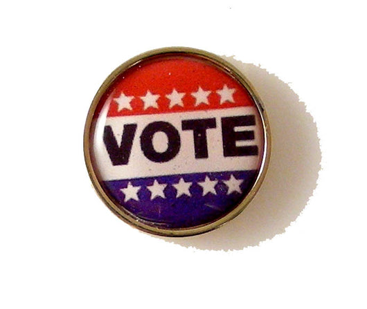 VOTE LAPEL PIN NEW ORLEANS CUFFLINKS