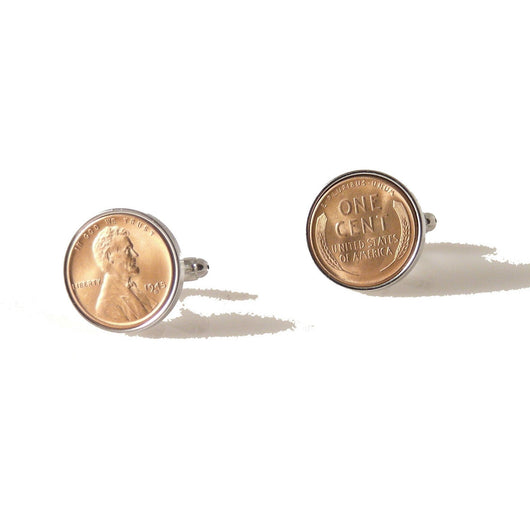 AUTHENTIC UNCIRCULATED WHEAT PENNY CUFFLINKS