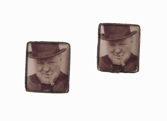 WINSTON CHURCHILL POSTAGE STAMP CUFFLINKS NEW ORLEANS CUFFLINKS