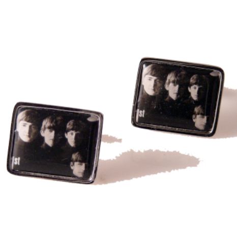 2007 WITH THE BEATLES POSTAGE STAMP CUFFLINKS New Orleans Cufflinks