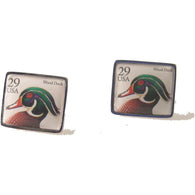 1991 WOOD DUCK POSTAGE STAMP CUFFLINKS New Orleans Cufflinks