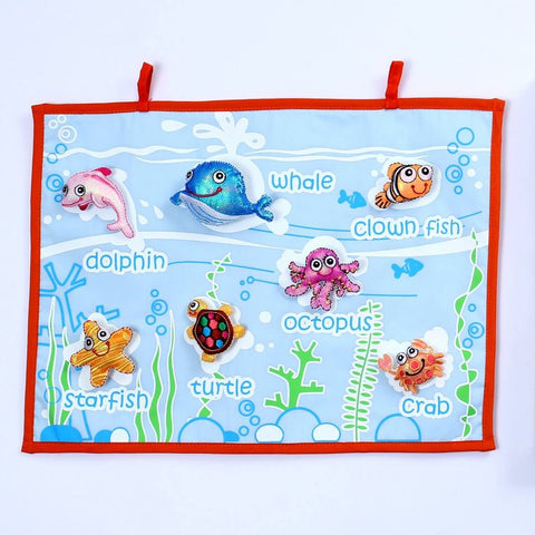 Sea Creatures Fabric Wall Chart