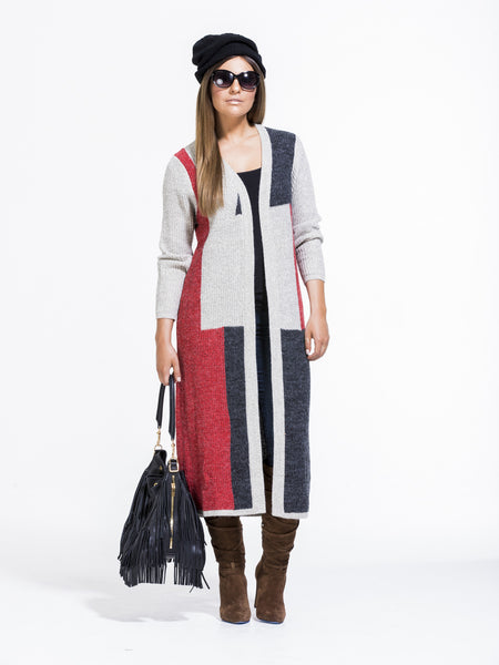 Aubrey Colorblock Cardigan - 16F5921
