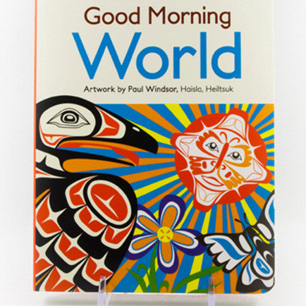 Couverture d'un livre intitulé « Good Morning World »