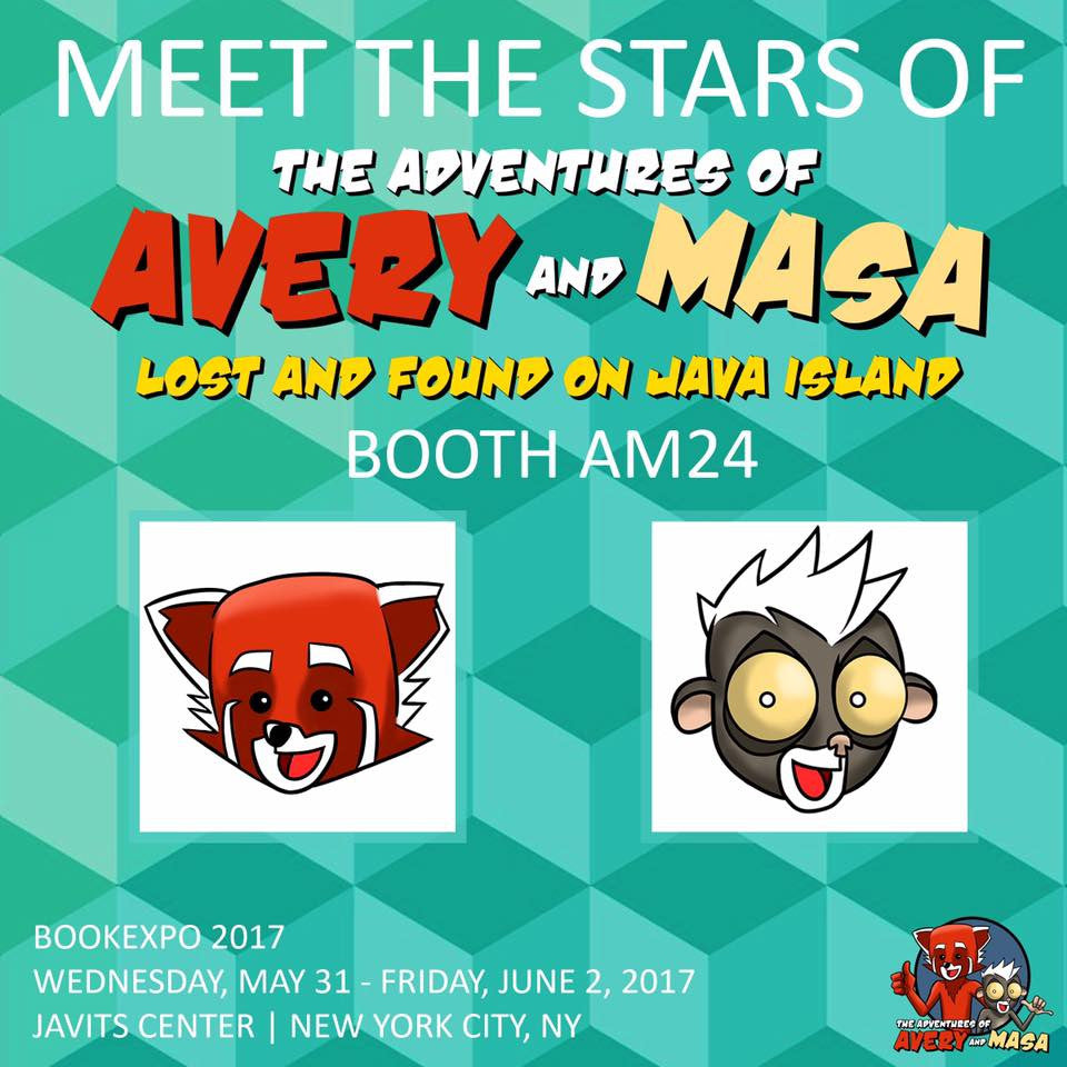 MEET AVERY AND MASA AT THE NYC BOOK EXPO!