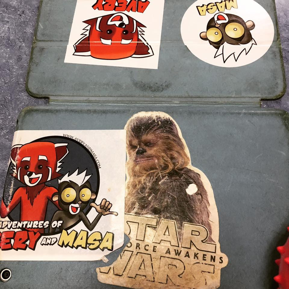 Super Cool Fan Photo of Masa and Chewy Stickers!