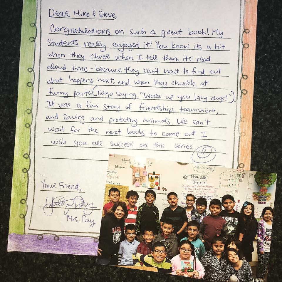 Avery and Masa Authors receive special teacher letter!