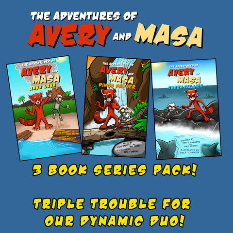 3 BOOK ADVENTURE PACK! JAVA LAVA, DINGO DANGER AND SHARK BULLIES!