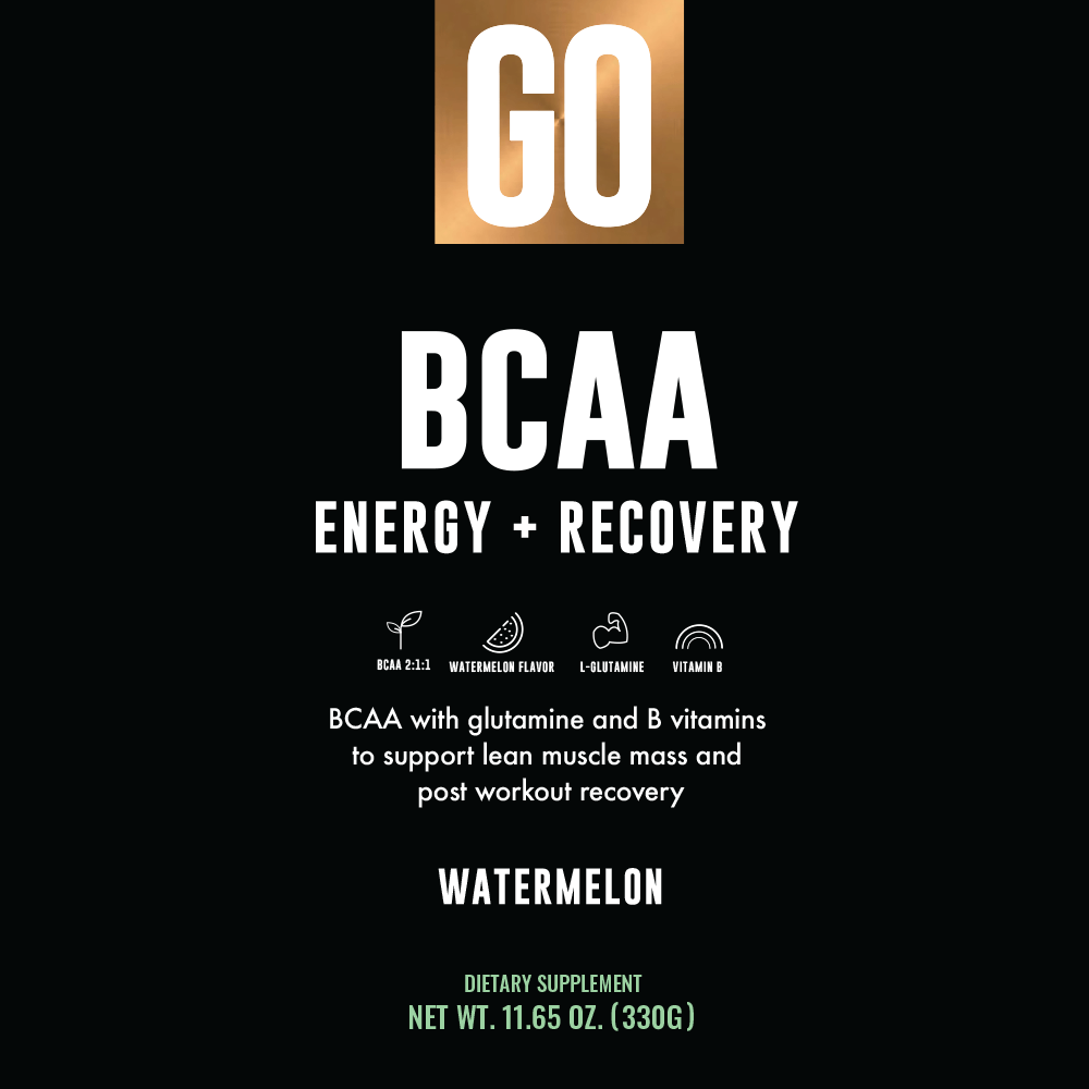BCAA - Recovery Energy Product - Label
