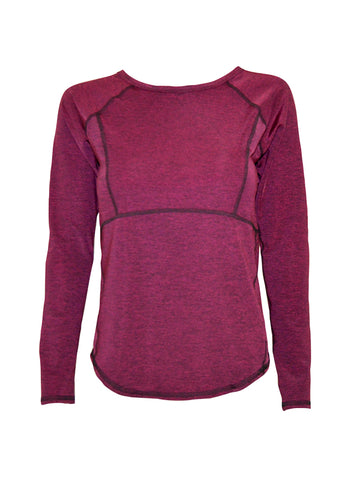 BPassionit Burgundy Heather Long Sleeve Top