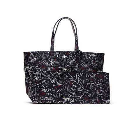 Lacoste Women's Anna Reversible Bicolor Egyptian Print Tote Bag