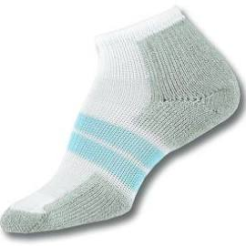 Thorlo 84N Women's Runner Socks - White/Blue/ Grey