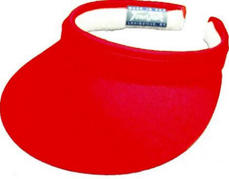 "Town Talk 5"" Clip-on Golf Visor Red"