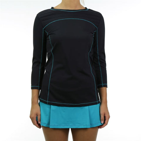 Fila Court Allure Bracelet Length Top - Black/Teal