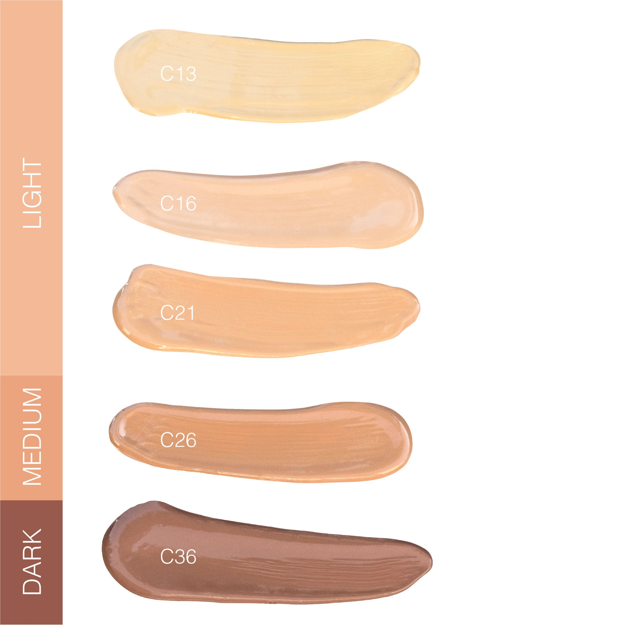 Instant Blur HD Concealer Shade Chart