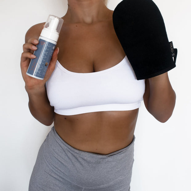 Activate Express Self Tan Mousse + Bronzing Mitt - Self Tan Applicator (SAVE 15%) + FREE Resistance Band